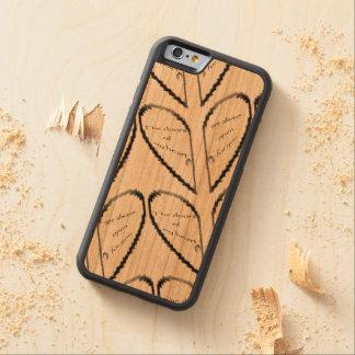 Coque Pare-chocs En Cerisier iPhone 6 La porte de mon coeur
