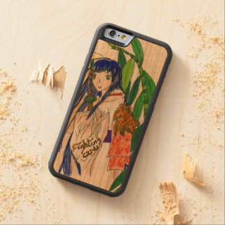 Coque Pare-chocs En Cerisier iPhone 6 Mana , la jeune fille samourai