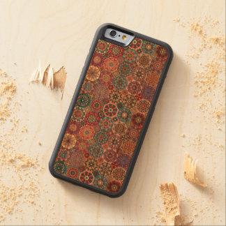 Coque Pare-chocs En Cerisier iPhone 6 Patchwork vintage avec les éléments floraux de