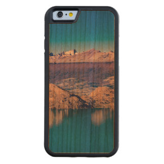 Coque Pare-chocs En Cerisier iPhone 6 Paysage de lac et de montagnes, Patagonia, Chili