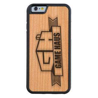 Coque Pare-chocs En Cerisier iPhone 6 Téléphone de GameHAUS - brûlure en bois