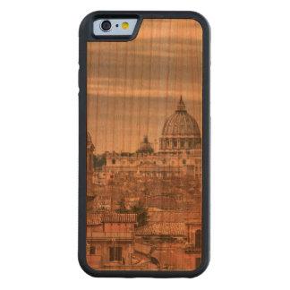 Coque Pare-chocs En Cerisier iPhone 6 Vue aérienne de Rome de Monte Pincio visitant le