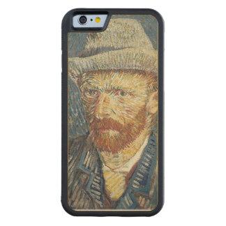 Coque Pare-chocs En Érable iPhone 6 Autoportrait de Vincent van Gogh | avec le chapeau