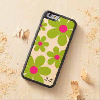 Coque Pare-chocs En Érable iPhone 6 Cas en bois de l'iPhone 6/6S de marguerite de