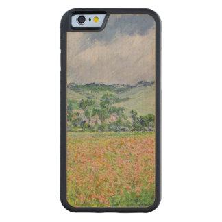Coque Pare-chocs En Érable iPhone 6 Claude Monet | le champ de pavot près de Giverny,