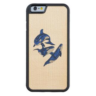 Coque Pare-chocs En Érable iPhone 6 Cosse de 3 orques tribales