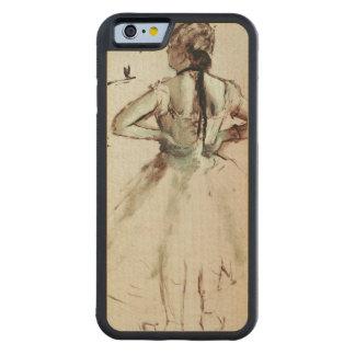 Coque Pare-chocs En Érable iPhone 6 Danseur d'Edgar Degas | vu du dos