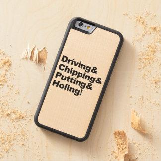 Coque Pare-chocs En Érable iPhone 6 Driving&Chipping&Putting&Holing (noir)