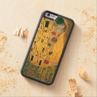 Coque Pare-chocs En Érable iPhone 6 Gustav Klimt le cru de GalleryHD de baiser