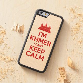 Coque Pare-chocs En Érable iPhone 6 Je suis Khmer que je ne peux pas garder le calme