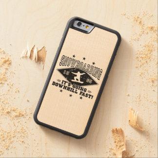Coque Pare-chocs En Érable iPhone 6 JEÛNEZ EN DESCENDANT ! (noir)