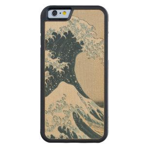 Coque Pare-chocs En Érable iPhone 6 La grande vague de Kanagawa, vues du mont Fuji