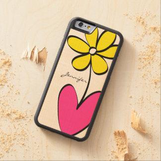 Coque Pare-chocs En Érable iPhone 6 La marguerite moderne a personnalisé la caisse en
