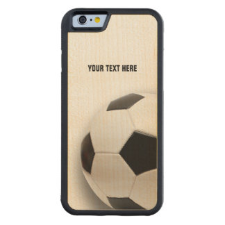 Coque Pare-chocs En Érable iPhone 6 Le football classique du football |
