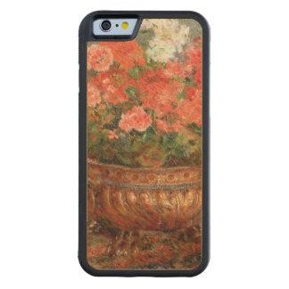 Coque Pare-chocs En Érable iPhone 6 Pierre géraniums de Renoir un | dans un bassin de