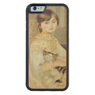 Coque Pare-chocs En Érable iPhone 6 Pierre un Renoir | Julie Manet avec le chat