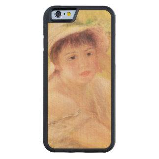 Coque Pare-chocs En Érable iPhone 6 Pierre une femme de Renoir | dans un chapeau de