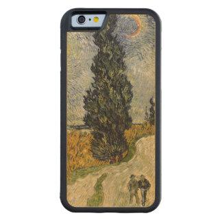 Coque Pare-chocs En Érable iPhone 6 Route de Vincent van Gogh | avec des cyprès, 1890
