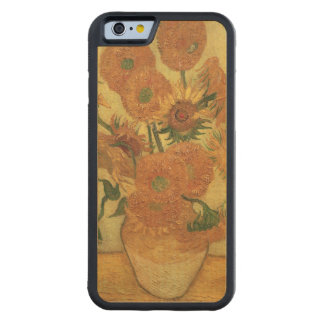 Coque Pare-chocs En Érable iPhone 6 Tournesols de Vincent van Gogh |, 1889