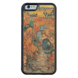 Coque Pare-chocs En Érable iPhone 6 Vignobles de rouge de Vincent van Gogh | chez