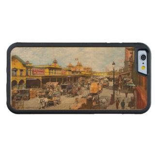 Coque Pare-chocs En Érable iPhone 6 Ville - NY - il y a cent quelques années 1900