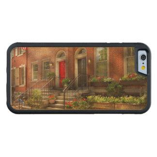 Coque Pare-chocs En Érable iPhone 6 Ville - PA Philadelphie - jolie Philadelphie