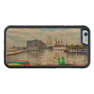 Coque Pare-chocs En Érable iPhone 6 Ville - Philadelphie, PA - le lieu de
