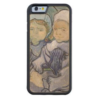Coque Pare-chocs En Érable iPhone 6 Vincent van Gogh | deux petites filles, 1890
