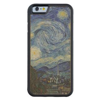 Coque Pare-chocs En Érable iPhone 6 Vincent van Gogh | la nuit étoilée, juin 1889