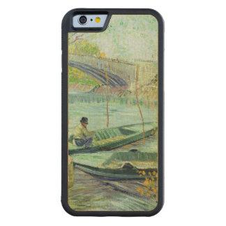 Coque Pare-chocs En Érable iPhone 6 Vincent van Gogh | pêchant au printemps