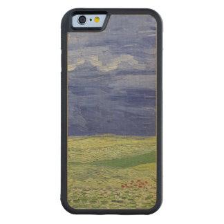 Coque Pare-chocs En Érable iPhone 6 Wheatfields de Vincent van Gogh | sous le nuage