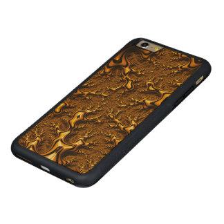 Coque Pare-chocs Mince En Érable iPhone 6 Plus Abrégé sur Trippy pudding de chocolat d'art de