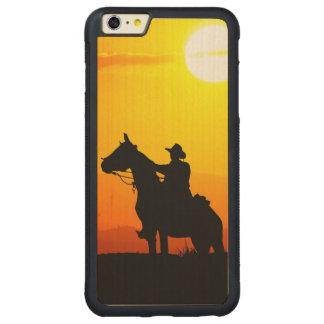 Coque Pare-chocs Mince En Érable iPhone 6 Plus Cowboy-Cowboy-soleil-occidental-pays de coucher du