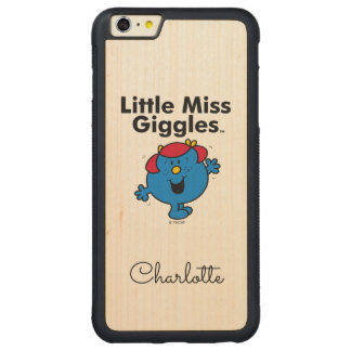 Coque Pare-chocs Mince En Érable iPhone 6 Plus Petite petite Mlle Giggles Likes To Laugh de la