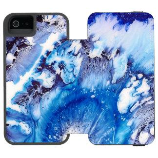 Coque-portefeuille iPhone 5 Incipio Watson™ Abrégé sur bleu de méthylène