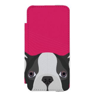 Coque-portefeuille iPhone 5 Incipio Watson™ Bouledogue français d'illustration avec l'arrière