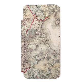 Coque-portefeuille iPhone 5 Incipio Watson™ Carte : Boston, 1883