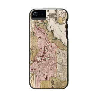 Coque-portefeuille iPhone 5 Incipio Watson™ Carte française médiévale Amérique du Québec/de