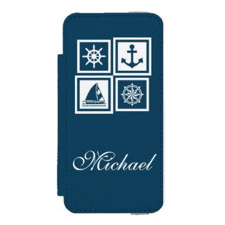 Coque-portefeuille iPhone 5 Incipio Watson™ Conception orientée nautique