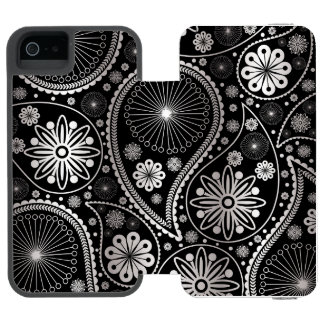 Coque-portefeuille iPhone 5 Incipio Watson™ Motif argenté de Paisley