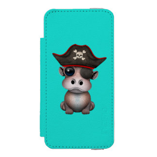 Coque-portefeuille iPhone 5 Incipio Watson™ Pirate mignon d'hippopotame de bébé