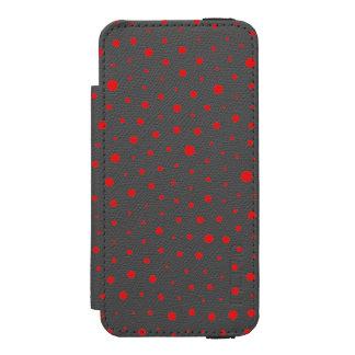 Coque-portefeuille iPhone 5 Incipio Watson™ Pois moderne élégant - personnaliser Rouge BG