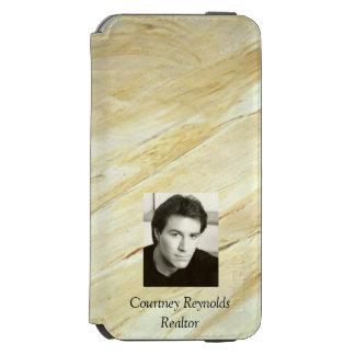 Coque-portefeuille iPhone 6 Incipio Watson™ Ajoutez votre marbre de Vieux Monde de photo