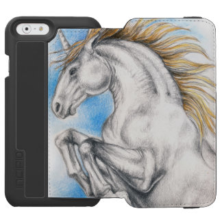 Coque-portefeuille iPhone 6 Incipio Watson™ Aquarelle de licorne