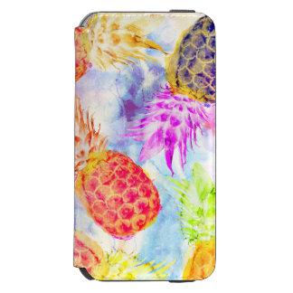 Coque-portefeuille iPhone 6 Incipio Watson™ Aquarelle moderne de motif tropical d'ananas