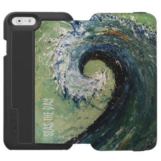 Coque-portefeuille iPhone 6 Incipio Watson™ Art abstrait de vague côtière de plage