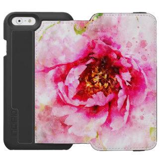 Coque-portefeuille iPhone 6 Incipio Watson™ Art rose d'aquarelle de pivoine