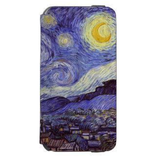 Coque-portefeuille iPhone 6 Incipio Watson™ Beaux-arts de cru de nuit étoilée de Vincent van