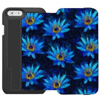 Coque-portefeuille iPhone 6 Incipio Watson™ bleu de nénuphar de Van Gogh