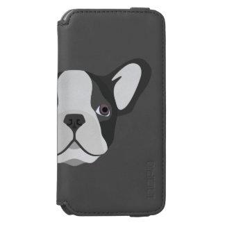 Coque-portefeuille iPhone 6 Incipio Watson™ Bouledogue français mignon d'illustration